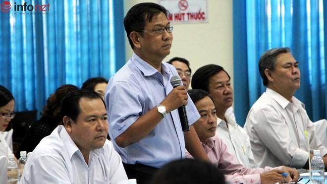 Ông Bùi Quang Duy – Trưởng phòng Tài nguyên và Môi trường huyện Hóc Môn là người bị Bí thư Thành ủy TP.HCM Đinh La Thăng truy vấn gay gắt hôm 19/5