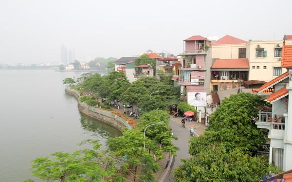 Giá đất bồi thường đường ven Hồ Tây hơn 31,4 triệu đồng/m2