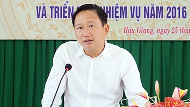 Ông Trịnh Xuân Thanh. Ảnh: Báo Hậu Giang.