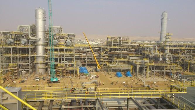 Công trường xây dựng dự án lọc hóa dầu Nghi Sơn