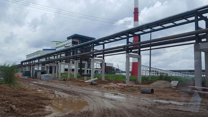 Một hạng mục nhà máy đang được xây dựng