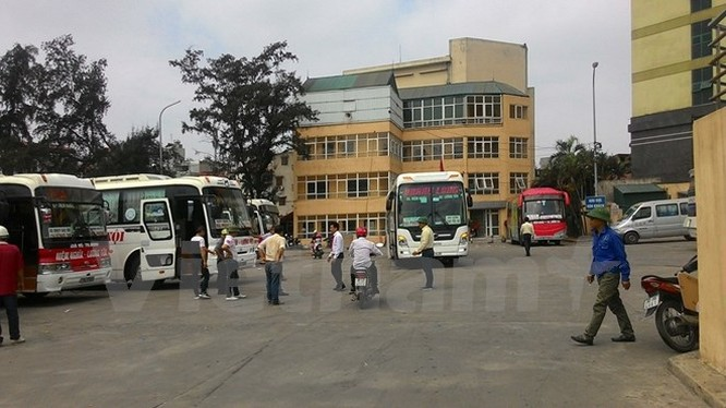 Bến xe Lương Yên sẽ dừng hoạt động trước ngày 30/7 tới. (Ảnh: Việt Hùng/Vietnam+)