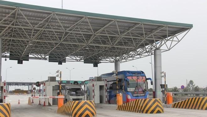 Vị trí một trạm thu phí tuyến Pháp Vân-Cầu Giẽ. (Ảnh: Quang Cường/Vietnam+)