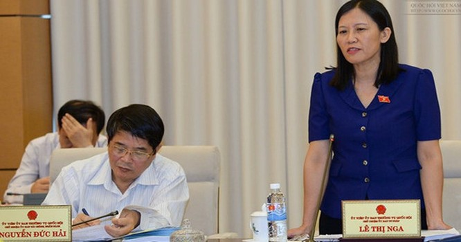 Chủ nhiệm Uỷ ban Tư pháp Lê Thị Nga (Ảnh: Quốc hội)