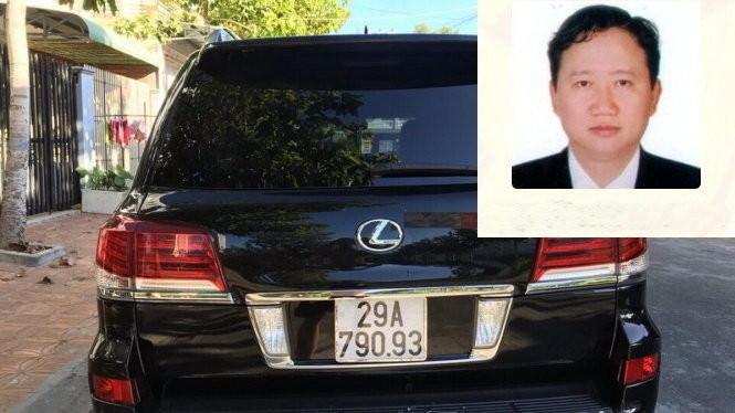 """Ông Trịnh Xuân Thanh và chiếc xe Lexus biển trắng được """"hóa kiếp"""" thành xe biển xanh"""