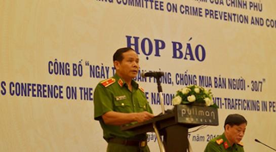 Thiếu tướng Nguyễn Phong Hòa- Phó Tổng Cục trưởng Tổng Cục Cảnh sát