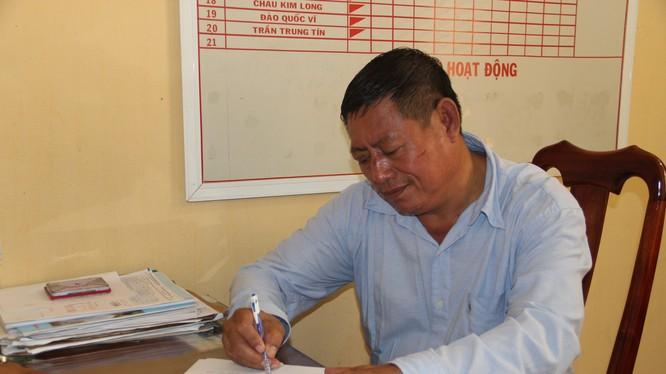 Trung tá Lay Bun Thi tại cơ quan công an Việt Nam Ảnh: Tiến Vũ