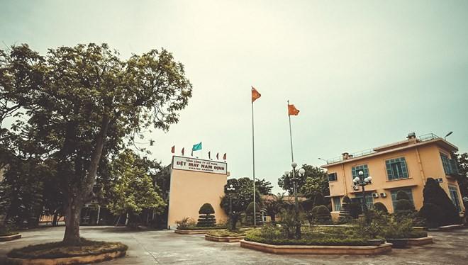 Nhà máy Dệt Nam Định tiền thân là một cơ sở nghiên cứu về tơ lụa do Toàn quyền Đông Dương - De Lanessan sáng lập. (Ảnh: Minh Sơn/Vietnam+)