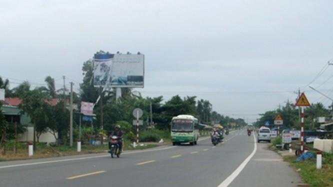 Quốc lộ 1 mới được nâng cấp đoạn qua Bạc Liêu. Ảnh: Internet