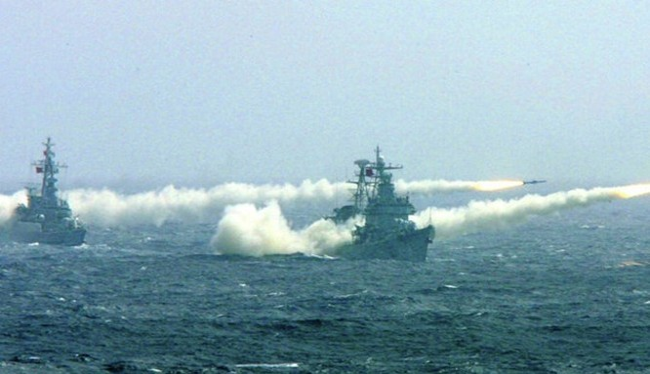 Hải quân Trung Quốc tập trận trên biển Đông