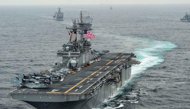 Tàu đổ bộ tấn công cỡ lớn của Mỹ vừa có mặt tại Biển Đông