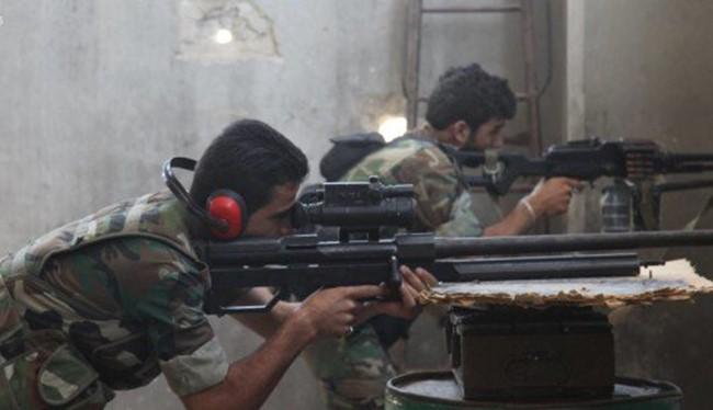 Các xạ thủ súng bắn tỉa trong quận Bani Zaid, Syria