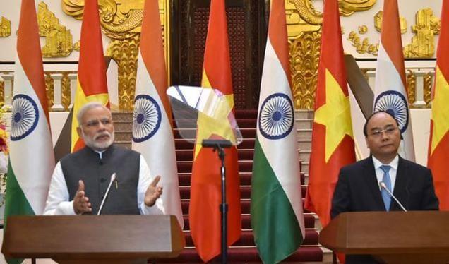 Thủ tướng Narendra Modi và Thủ tướng Nguyễn Xuân Phúc