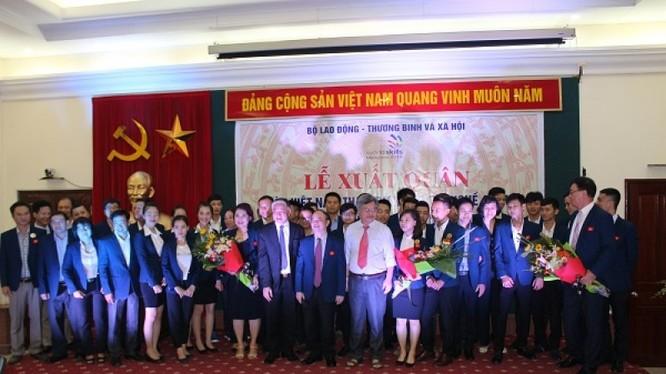 Đoàn Việt Nam tham dự kỳ thi tay nghề ASEAN lần thứ 11. Ảnh: LĐTĐ