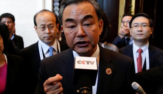 Ông Vương Nghị tại một cuộc họp với ASEAN