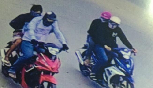 Hình nhóm nghi can thực hiện vụ cướp tiệm vàng