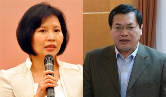Ông Vũ Huy Hoàng và bà Hồ Thị Kim Thoa. Ảnh: VietnamFinance