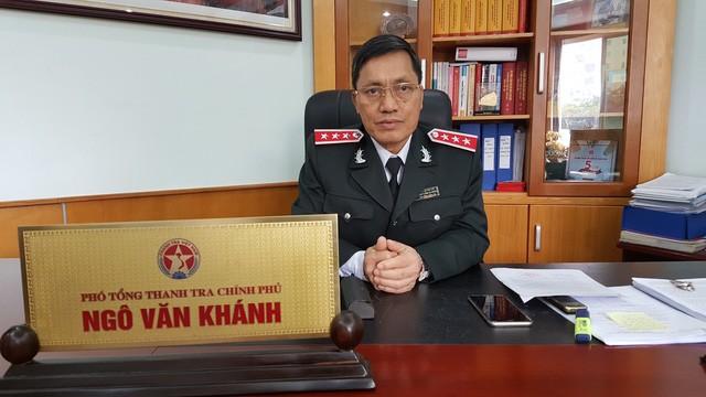 Ông Ngô Văn Khánh - Phó Tổng Thanh tra Chính phủ trao đổi với PV Dân trí (Ảnh: Thế Kha)
