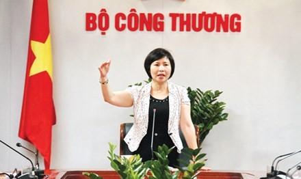 Thứ trưởng Bộ Công Thương Hồ Thị Kim Thoa. Ảnh: Tiền Phong