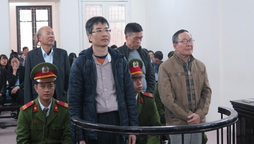 Giang Kim Đạt tại tòa. Nguồn: Internet