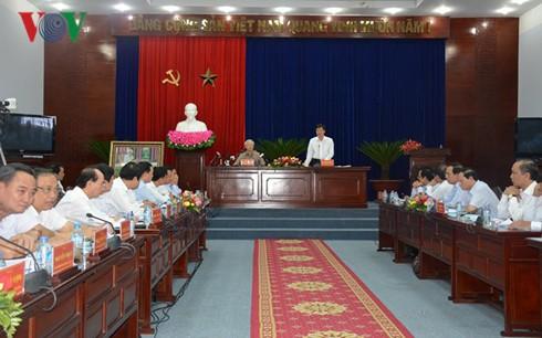 Tổng Bí thư Nguyễn Phú Trọng làm việc với lãnh đạo chủ chốt tỉnh Bạc Liêu