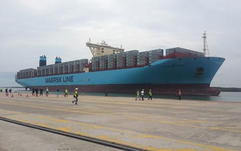 Siêu tàu container Margrethe Maersk. (Ảnh: Thanh Niên)