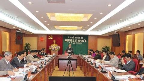 Ủy ban Kiểm tra Trung ương đã họp kỳ thứ 11 dưới sự chủ trì của Chủ nhiệm UB Trần Quốc Vượng.