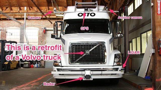 Mẫu xe tải tự lái của Otto