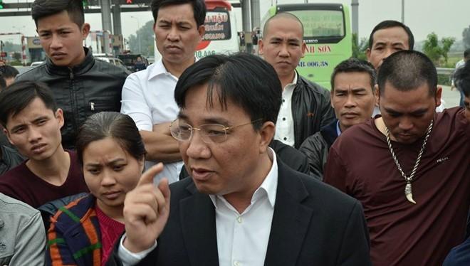 Giám đốc Sở GTVT Hà Nội đối thoại với các nhà xe tại trạm thu phí Pháp Vân - Cầu Giẽ.