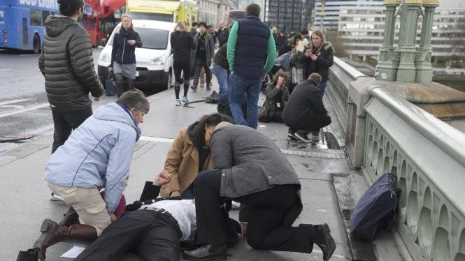 Khủng bố ngoài tòa nhà Quốc hội Anh: Ít nhất 5 người chết, 40 người bị thương. Nguồn: Internet