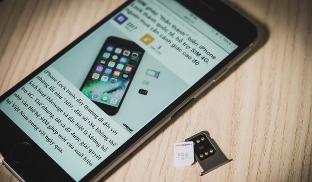 """Sim ghép """"thần thánh"""" gây chao đảo thị trường iPhone Việt"""