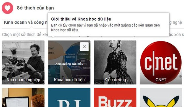 Chỉ cần bạn nhấp vào một quảng cáo, Facebook sẽ lưu lại để tiếp tục hiển thị quảng cáo liên quan trong tương lai