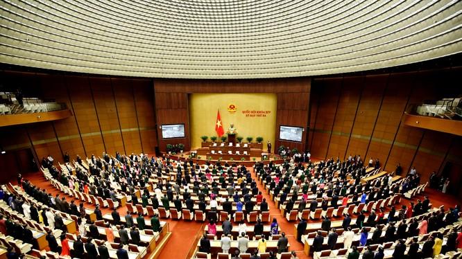 Toàn cảnh phiên khai mạc kỳ họp thứ 3, Quốc hội khoá XII. Ảnh VGP/Nhật Bắc