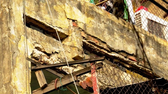 Hình ảnh tại một chung cư cũ của Hải Phòng. Ảnh Giang Chinh - Vnexpress