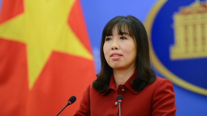 Người phát ngôn Bộ Ngoại giao Lê Thị Thu Hằng - Ảnh: Bộ Ngoại giao Việt Nam