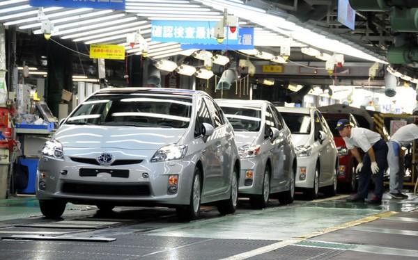 Sản xuất ô tô tại Công ty Toyota Việt Nam. Ảnh: Toyota Việt Nam
