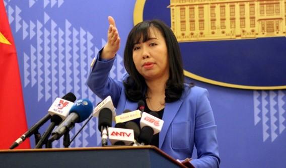 Người phát ngôn Bộ Ngoại giao Việt Nam Lê Thị Thu Hằng. Ảnh VOV