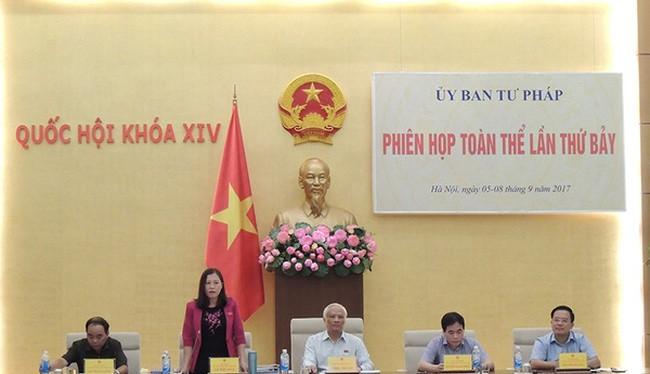 Uỷ ban Tư pháp tổ chức phiên họp toàn thể ngày 5-9. Ảnh: quochoi.vn