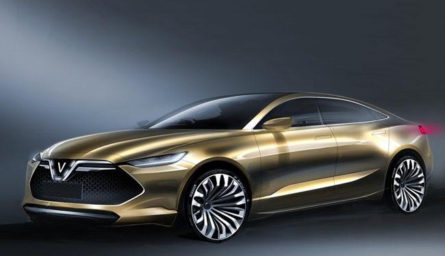Mẫu xe sedan VinFast do Ital Design thiết kế