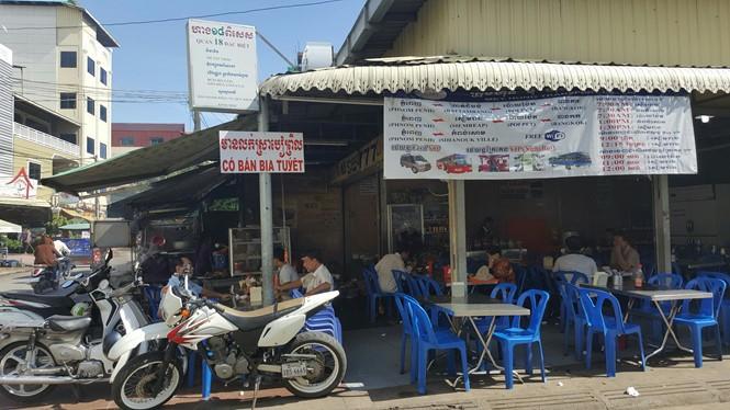 Một tiệm kinh doanh của người gốc Việt Nam tại Phnom Penh