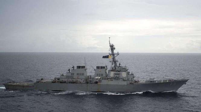Khu trục hạm của Mỹ. Ảnh: Internet