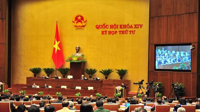Phiên khai mạc kỳ họp thứ 4 Quốc hội khóa XIV sáng 23/10. Ảnh: VGP