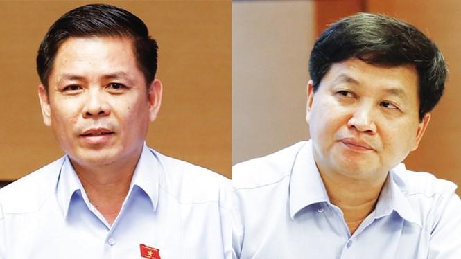 Ông Nguyễn Văn Thể (trái) và ông Lê Minh Khái. Ảnh: Hà Nội mới