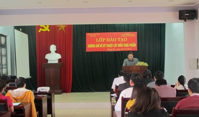 Khóa học được Chi cục An toàn vệ sinh thực phẩm Hưng Yên phối hợp với Viện kiểm nghiệm An toàn vệ sinh thực phẩm quốc gia tổ chức