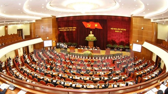 Toàn cảnh hội nghị Trung Ương 6. Ảnh TTXVN.