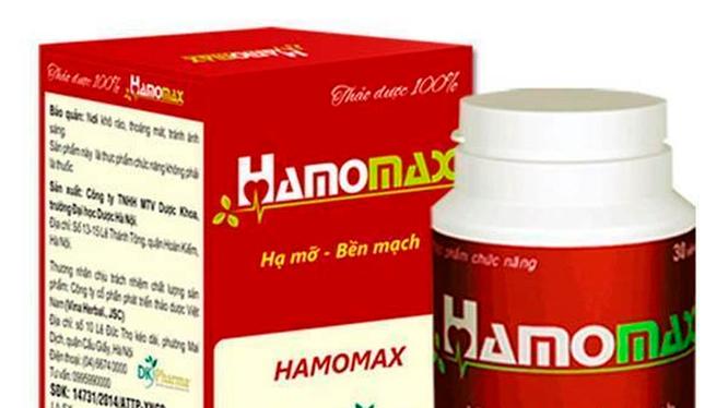 Hamomax đã quảng cáo thực phẩm chức năng này có công dụng như thuốc chữa bệnh. Ảnh: VietTimes.
