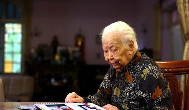 Cụ bà Hoàng Thị Minh Hồ (1914 - 2017). Ảnh: Gia đình