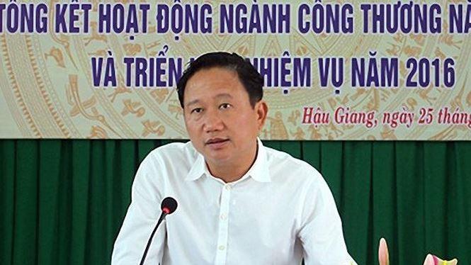 Bị can Trịnh Xuân Thanh. Nguồn: Báo Hậu Giang