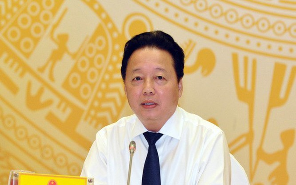 Bộ trưởng Bộ Tài nguyên và Môi trường Trần Hồng Hà. Ảnh: Dân trí