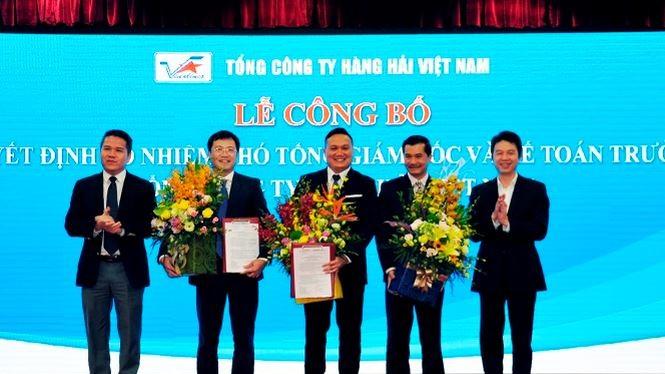 Lễ bổ nhiệm hai tân Phó tổng giám đốc Vinalines. Nguồn: Vinalines